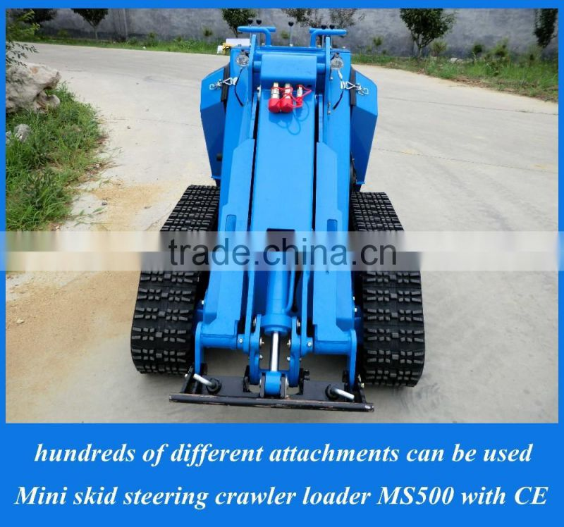 Hot sale mini backhoe wheel loader MS500 mini skid steer loader