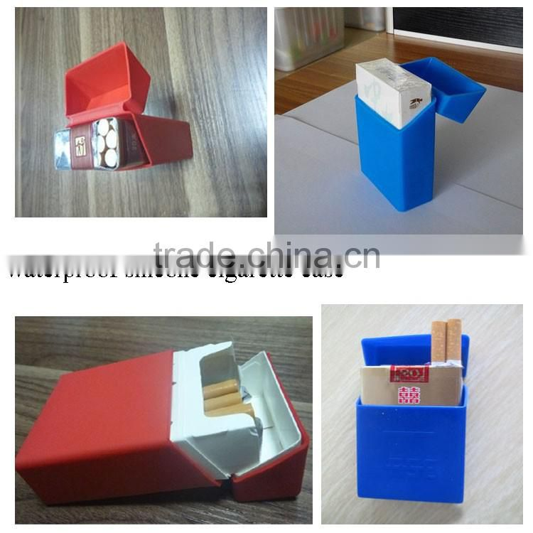customized printed logo waterproof cigarette case silicone cigarette box cigarette pack
