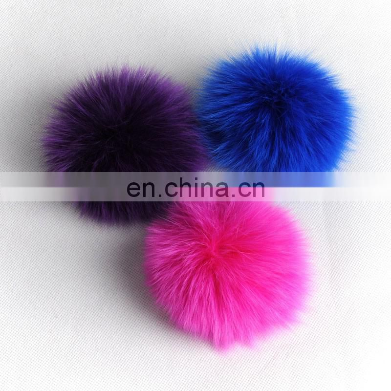 Stock genuine fox fur pom pom round fur ball accessory for decoration