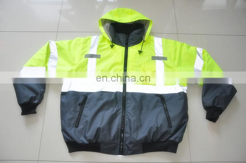 EN471 High Visibility winter work wear Reflective Safety Coveralls