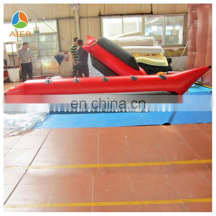 2014 China funny Inflatable banana boat,water boat inflatable