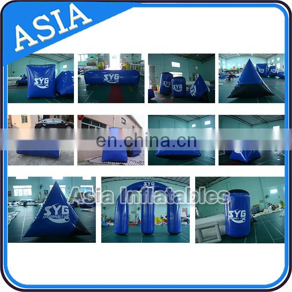Shooting Inflatable Speedball Bunkers , Inflatable Airsoft Paintball Bunkers for Sport Games