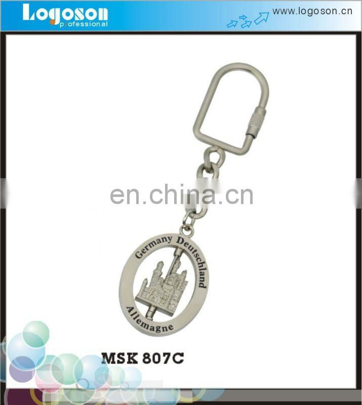Wholesale Custom Die Cast Metal Barcode Key Tag With Metal Ring/Custom Keyring