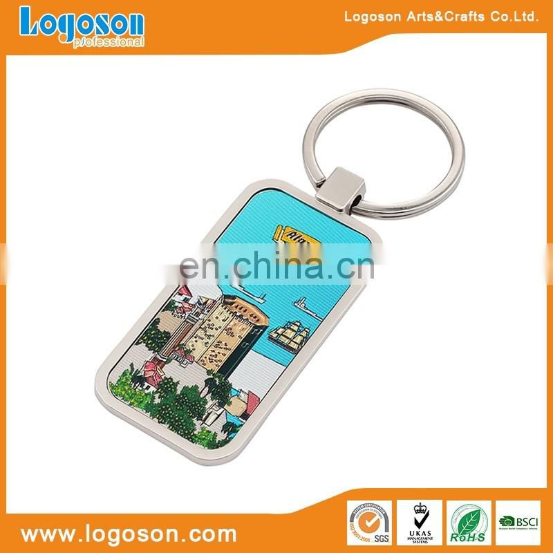 Top selling promotional custom metal foil paper printing key ring