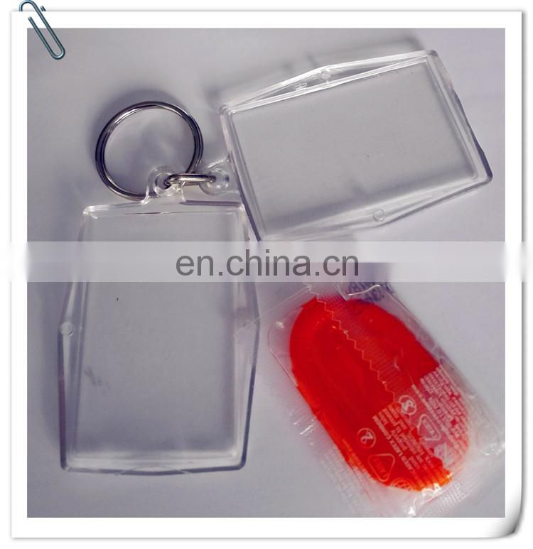 strange promotion plastic key chain to hold condom