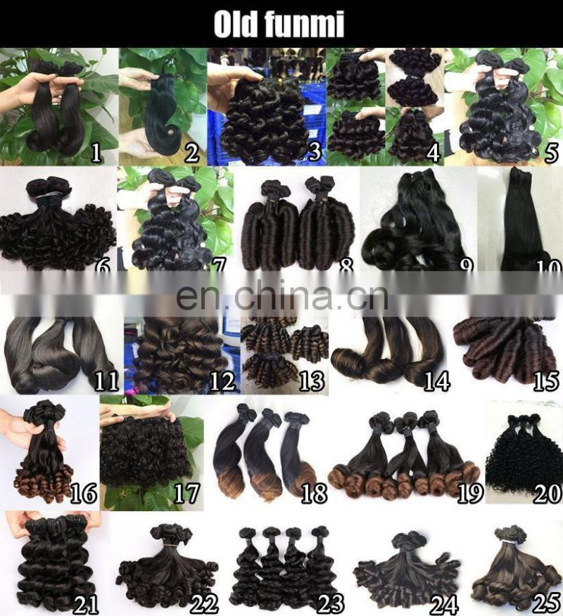 Top Quality Grade 10A Double Drawn Funmi Rose Curl Human Hair Extension