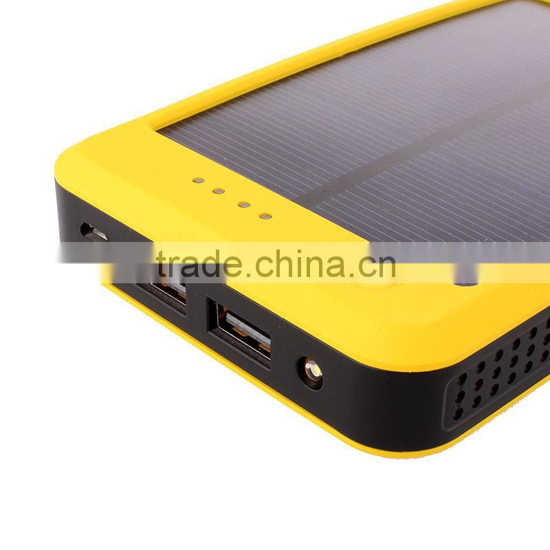 Portable solar power bank 10000mah solar battery charger for mobile phone