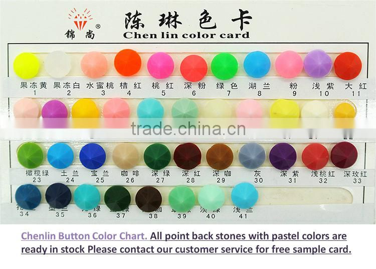 ChenLin pastel candy neon acrylic rhinestones for jewelry making fashion decorations apparel accessories and other craft making