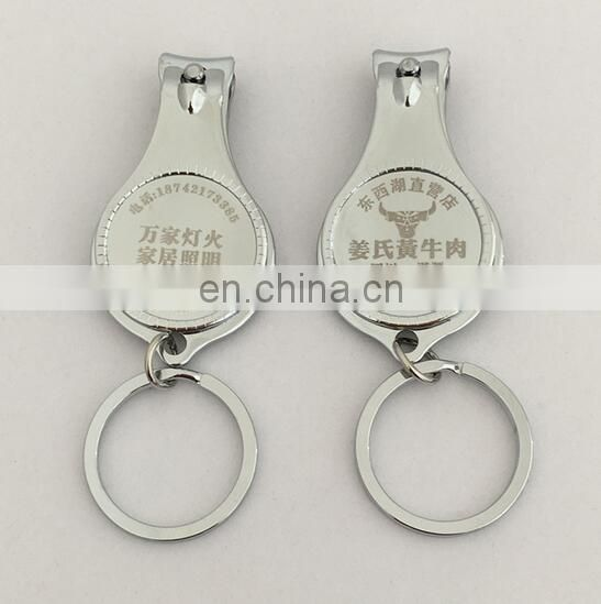 promotional nail clipper with custom epoxy logo