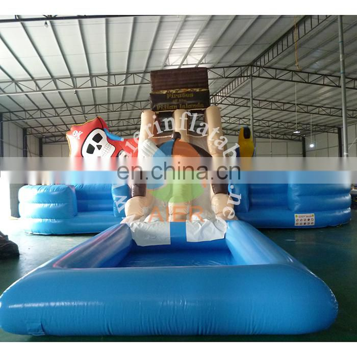 Funny inflatable pirate water slide for kids&adult,giant inflatable water slide,