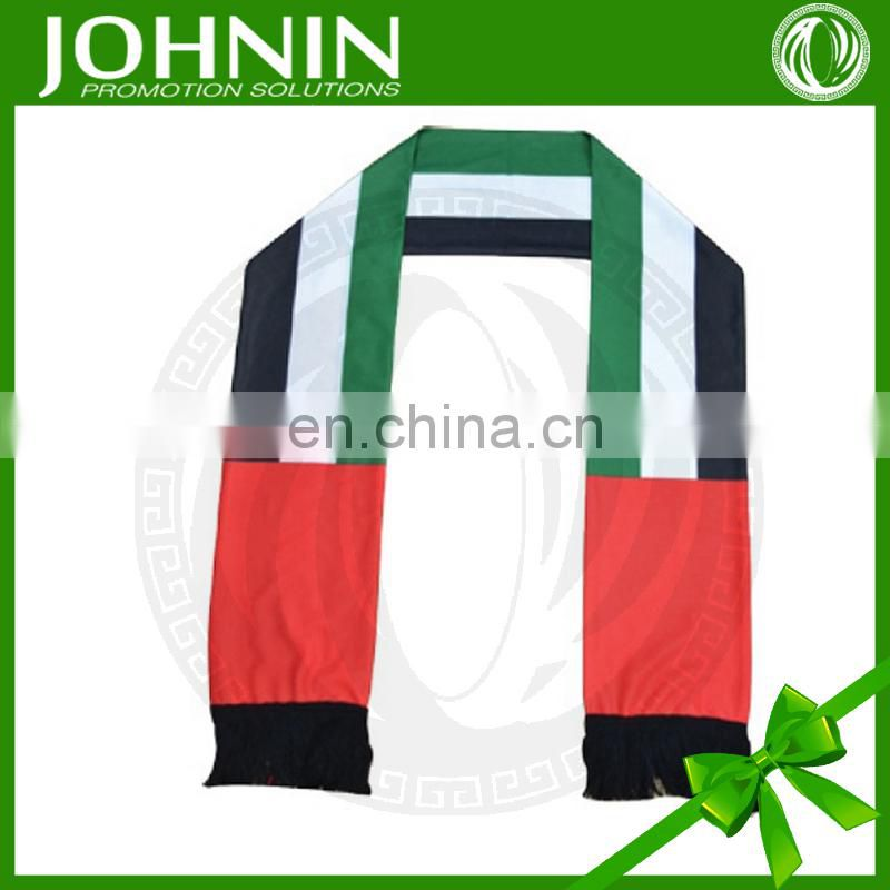 National Day OEM Fast Shipping Customized UAE Satin Scarf