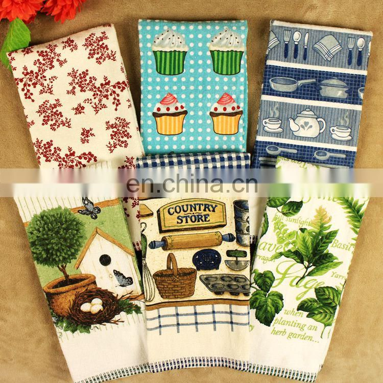 Factory Direct Wholesale Custom Printed 100% Cotton Tea Towel