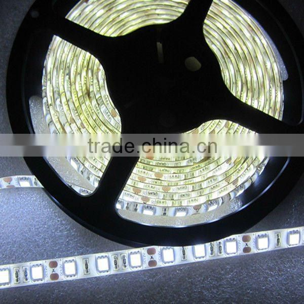 DC12V nonwaterproof/Waterproof IP65/IP68 5050 SMD 60leds/meter White 14.4W/m led strip light