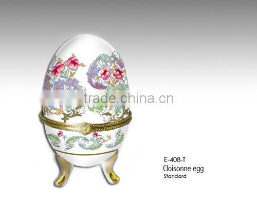 High Quality Porcelain Egg-shaped Jewllery box for sales