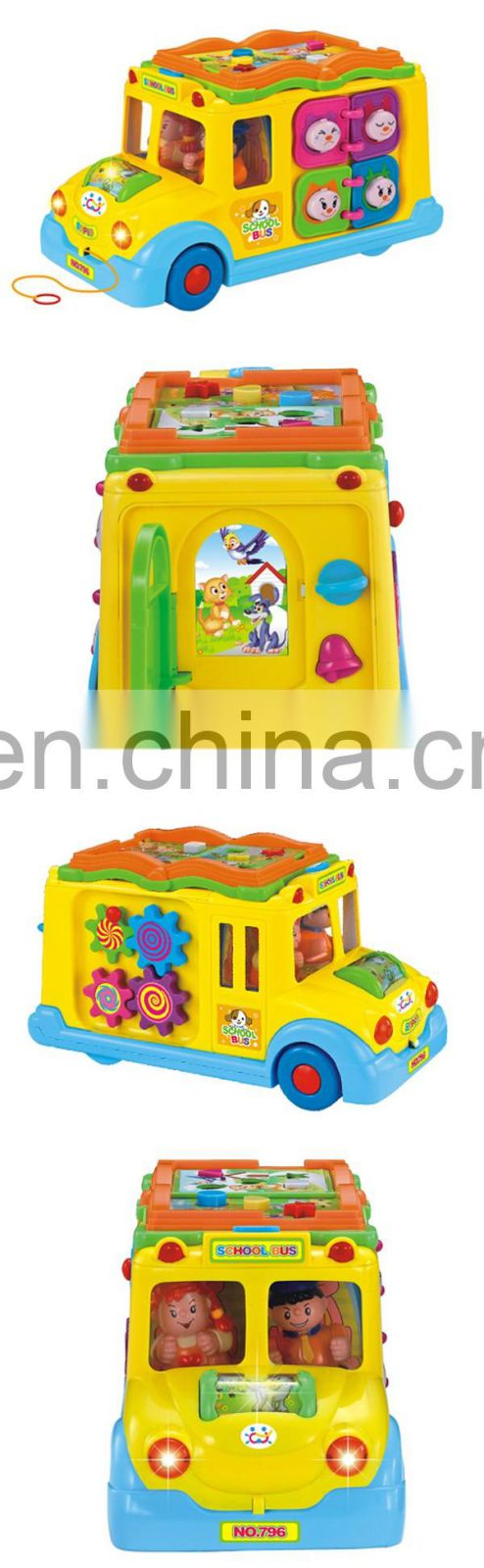 Educational electric toy car with music and light for good sale