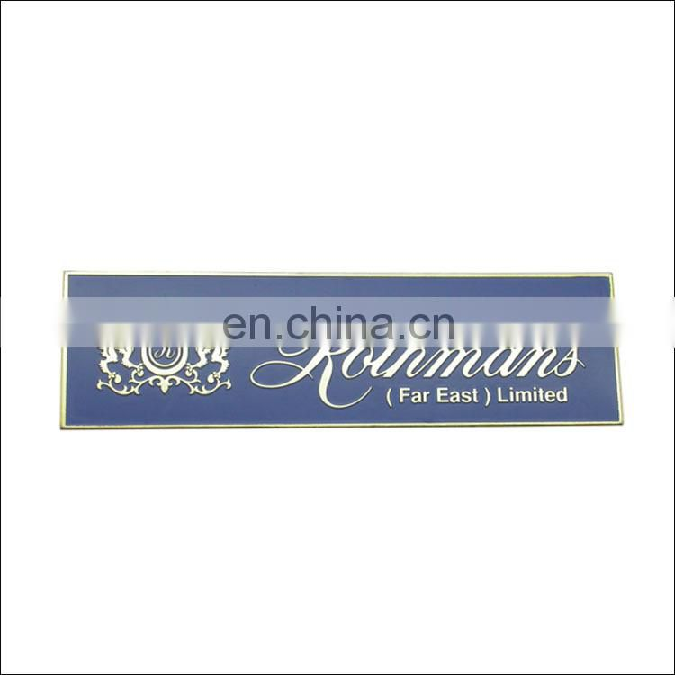 company name plate engrave advertising metal plate