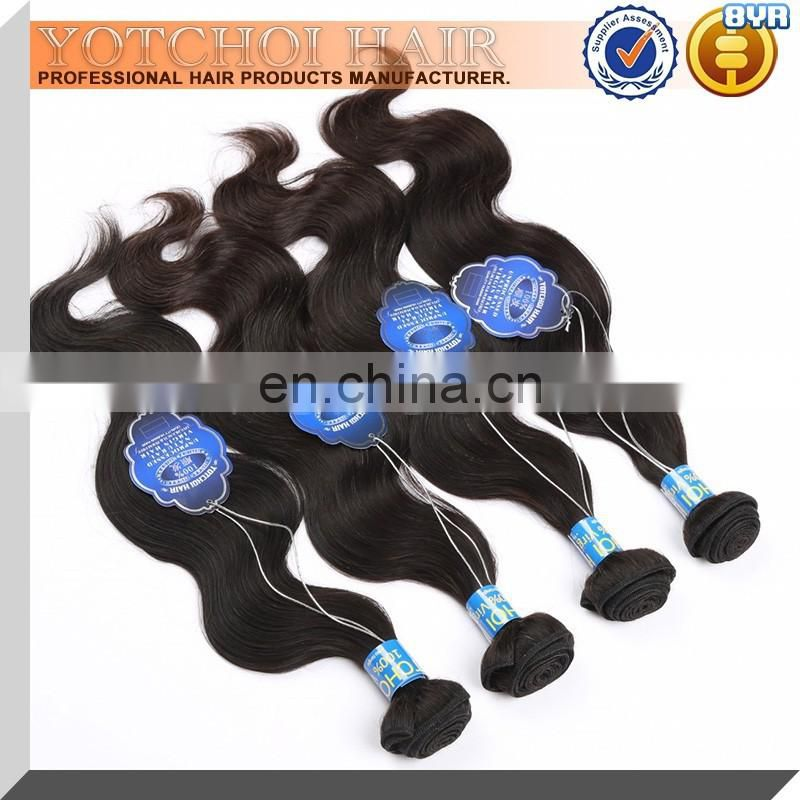 Yotchoi Raw Virgin Unprocessed Human Hair Hair Virgin Peruvian Body Wave 4Pcs Lot