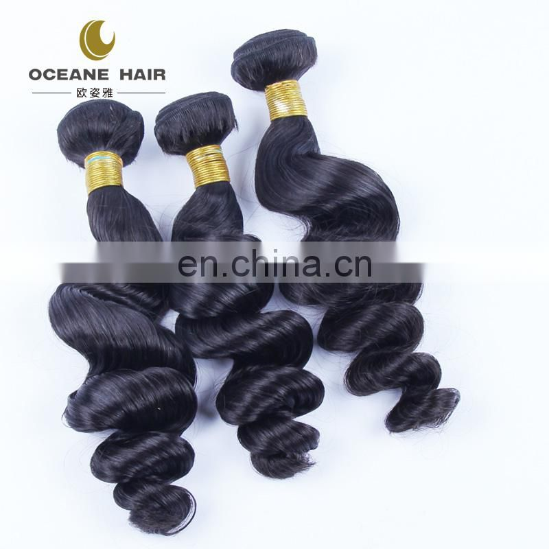 2016 super quality brazilian loose deep wave hair weave from brazil