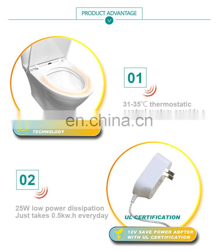 Hotselling electric heated elongated toilet seat