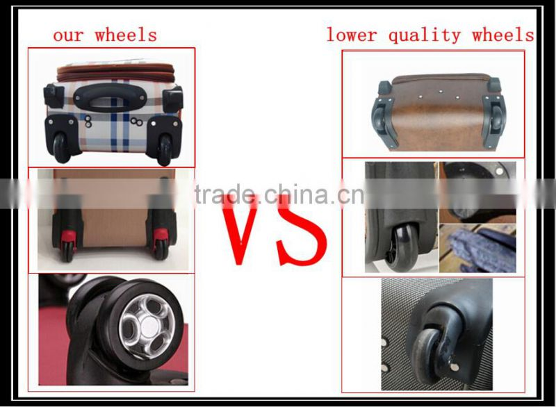Best Quality Fabric Material Carry On Trolley Beauty Case