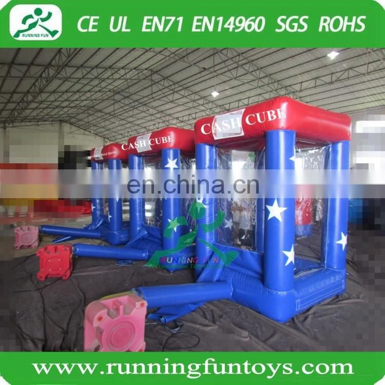 Inflatable Money Grab Machine fo... Inflatable Cash Cube Booth for Advertisment