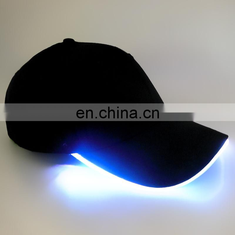 Novelty Baseball LED Light Up Flashing Baseball Cap With Printed Logo, Colorful Glowing LED Baseball Cap With Printed Logo
