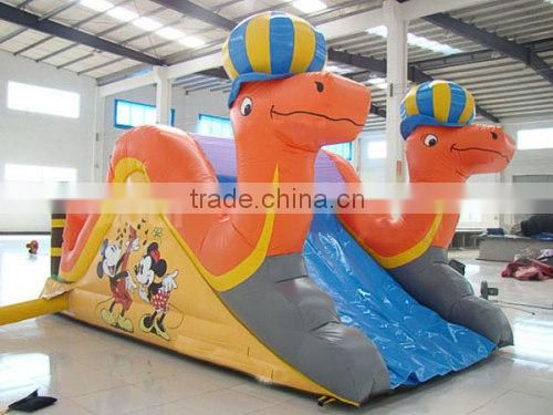 Inflatable mini camel dry slide baby water toy, chongqi