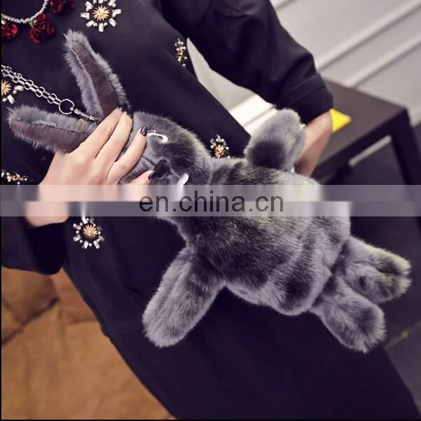 The Latest Design Cute 3D Plush Rabbit Single Shoulder Bag Women Shoulder Bag Rabbit Toy for Children