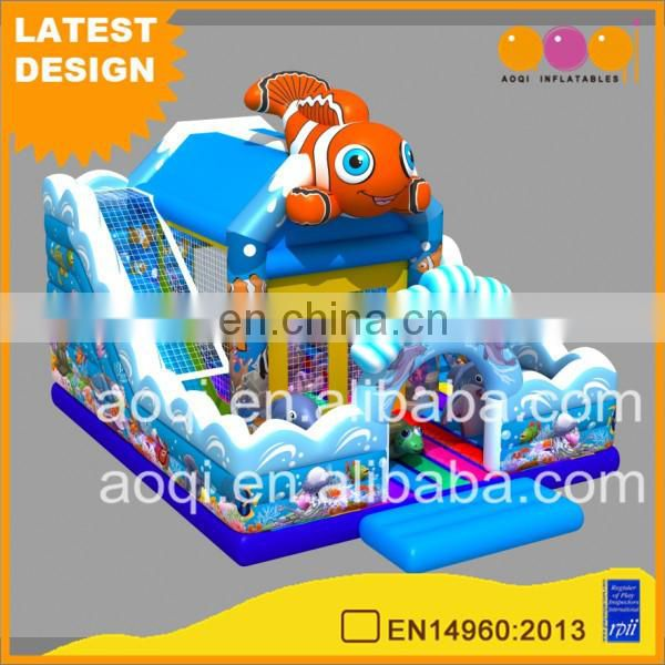 2017 AOQI new design interesting china products inflatable Aquarium fun city kids inflatable amusement park for sale