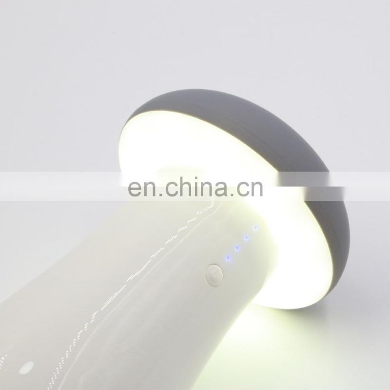 High Quality Cute Small Mushroom 8000mAh External Battery LED Night Light Power Bank for USB Port Mobile Phones and Tablets