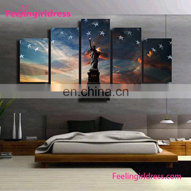 Wholesale Custom Home Decor Goods Wall Art Elephant 3D Canvas Oil Wall paintings
