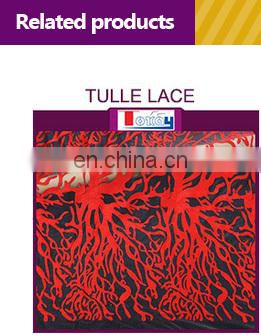 2017 new arrivial red+gold double organza africa lace fabric