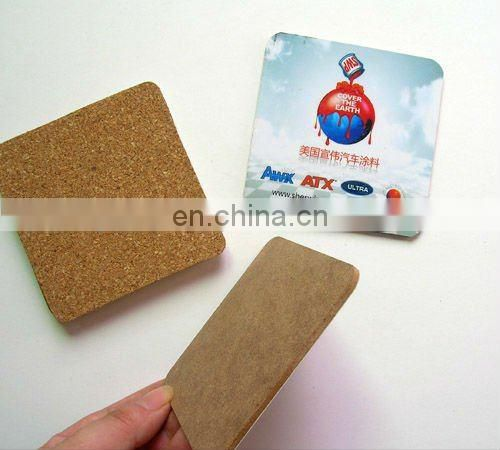 blank mdf cork coaster with china supplier