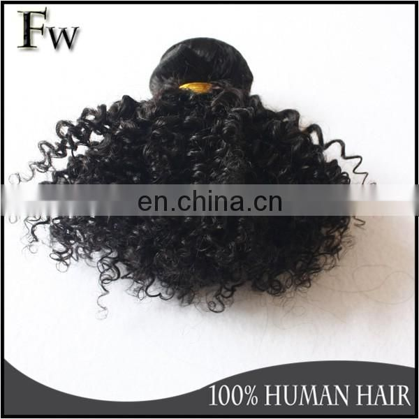 Black hairstyle for short hair mongolian kinky curly hair extensions remy human hair weft bundles