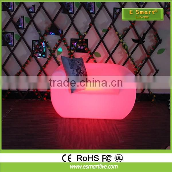 Iuminous bar LED light sofa for Coffee House