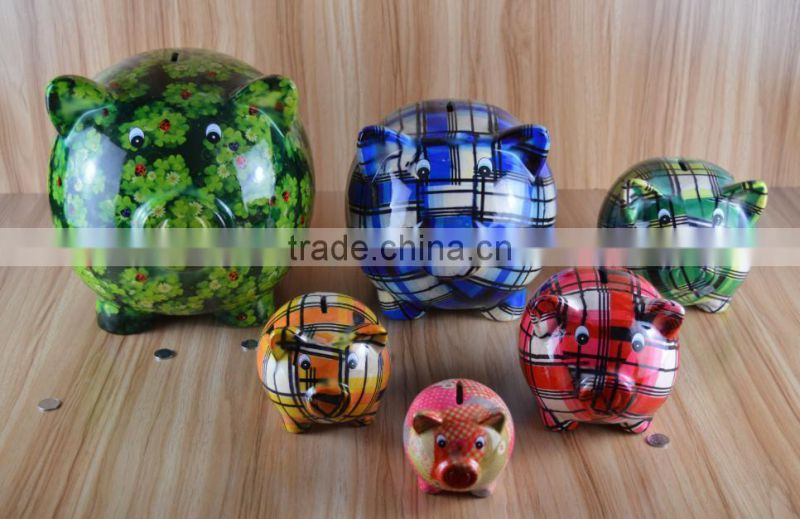New Product ceramic nice tattooing dog saving bank