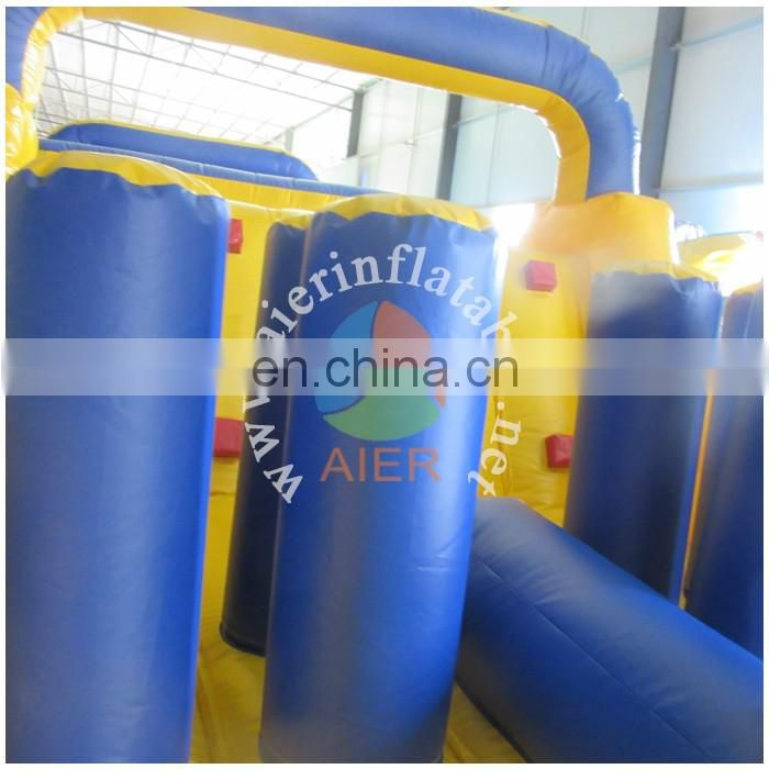 PVC inflatable obstacle course inflatable yellow obstacle inflatable sport game