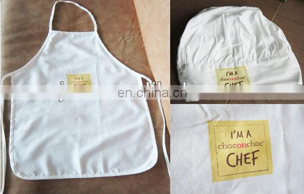 printed cotton kids aprons