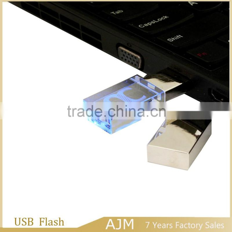 2016 8gb crystal usb stick for gift usb flashlight flash drive for business wholesale flash business cards