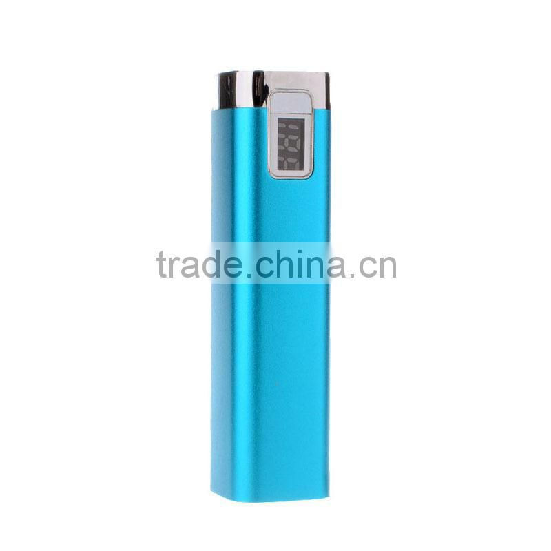 Hot selling promotion gift portable perfume power bank 1000mah with LCD