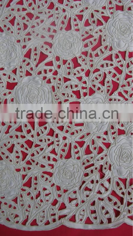 3d Embroidered mesh fabric with sequins beads rhinestones decoration