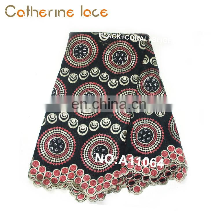 Catherine Factory Embroidery African Swiss Lace Fabric In Switzerland