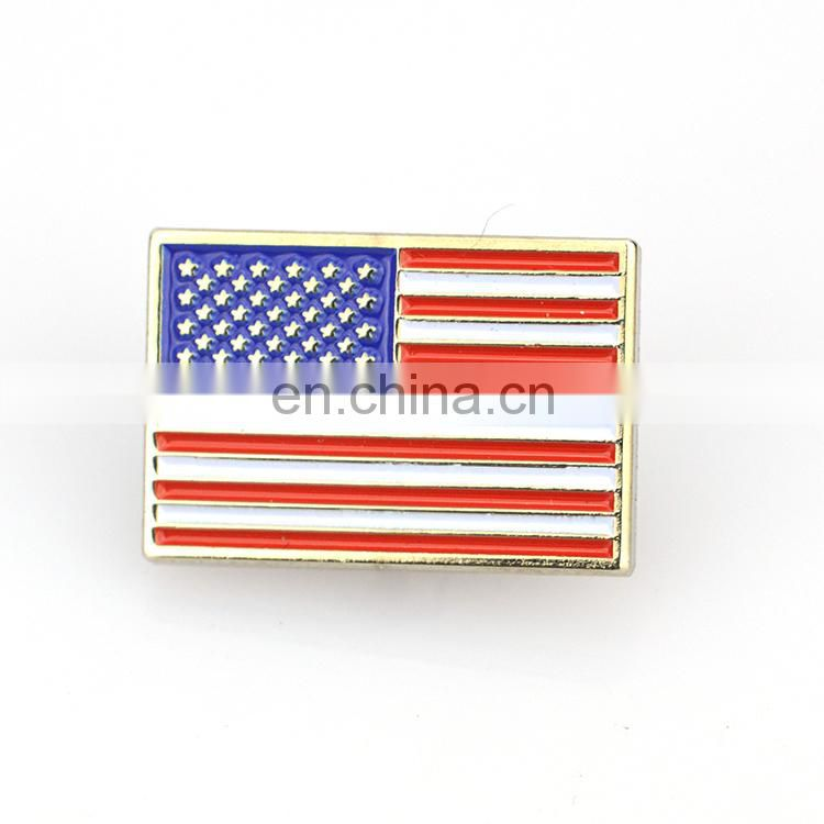 Custom enamel magnet secret service usss american texas india usa flag lapel pin badge