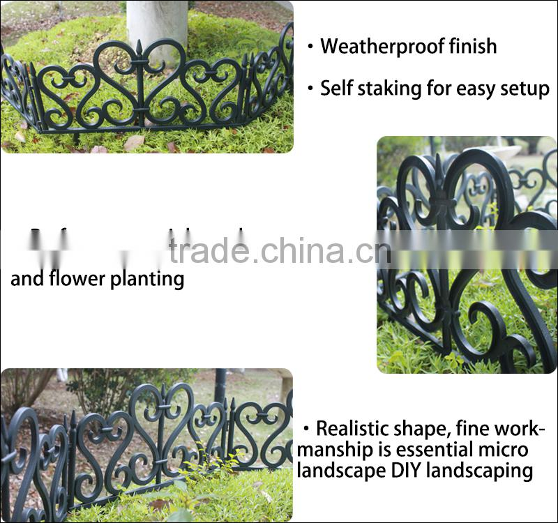 (548) Economic Cheap Small Garden Picket Fence Artistic Garden Fence Design