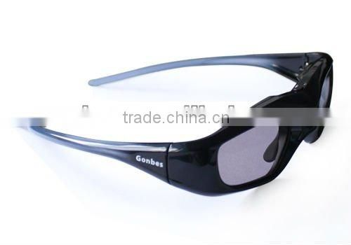New Model!! Super Slim Universal 3D Active Shutter Glasses with IR, Bluetooth, DLP-Link Signal, competible price from Gonbes