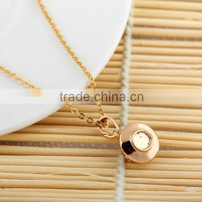 latest model fashion glass bottle pendant necklace for wedding (AM-D0287)