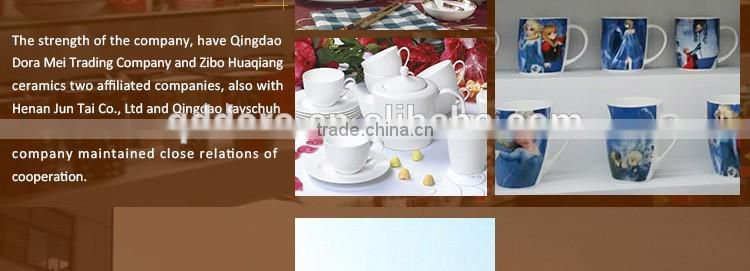 Factory direct wholesale customized logo glazed ceramic mug with two ear,valentines day gifts