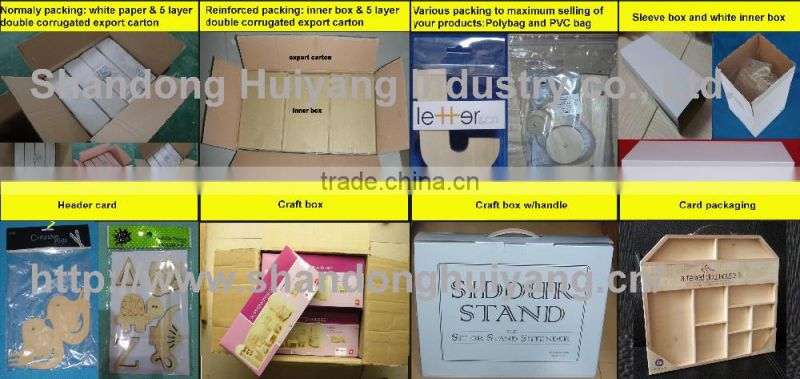 custom unfinished fodable wooden sewing box wholesale