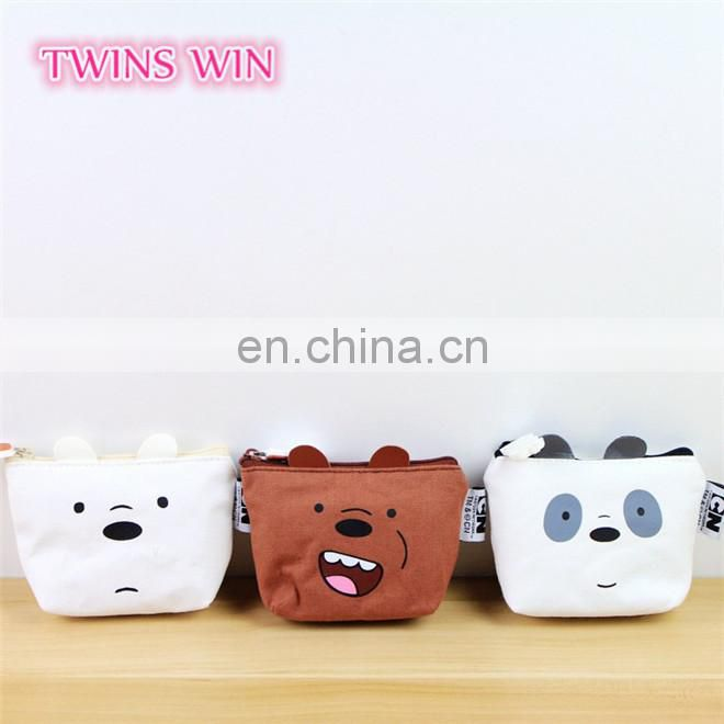 Low price High-quality handmade keychain bag,Italy womens fashion colorful canvas animal shape coin purse