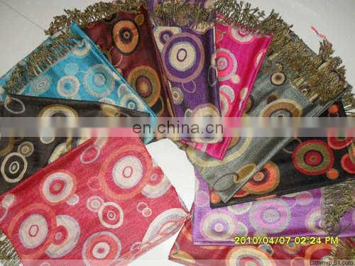 circle jacquard pashmina shawl & scarf 70*180cm add 2*10cm fringe good quality